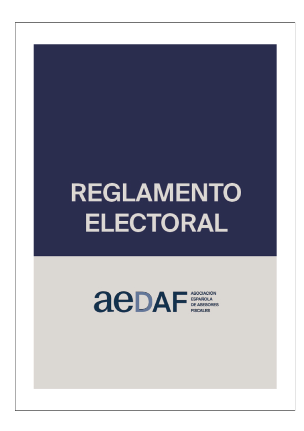Reglamento electoral AEDAF