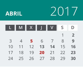 Calendario del Territorio Común. Junio